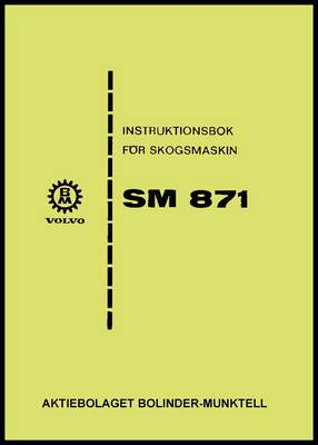 Product picture Instruktionsbok Volvo BM SM 871