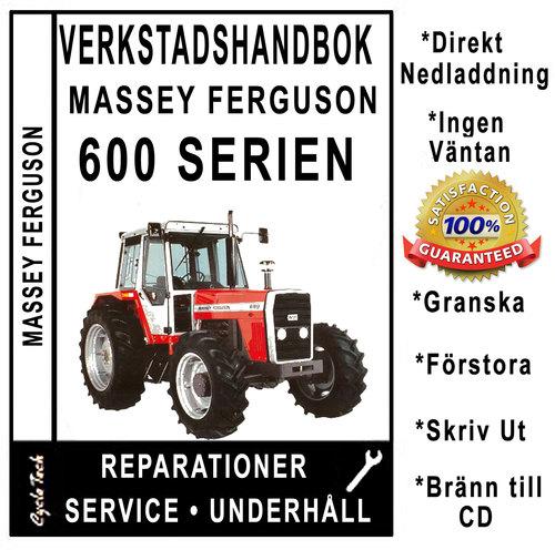 Product picture Verkstadshandbok till Massey Ferguson MF 675, 690, 698