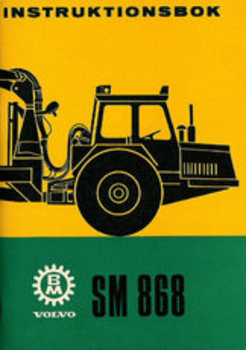 Product picture Instruktionsbok Volvo BM SM 868
