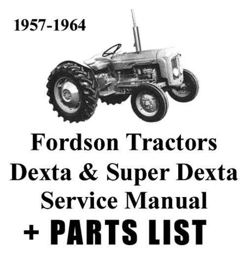 Product picture Verkstadshandbok  Fordson Dexta & Super Dexta